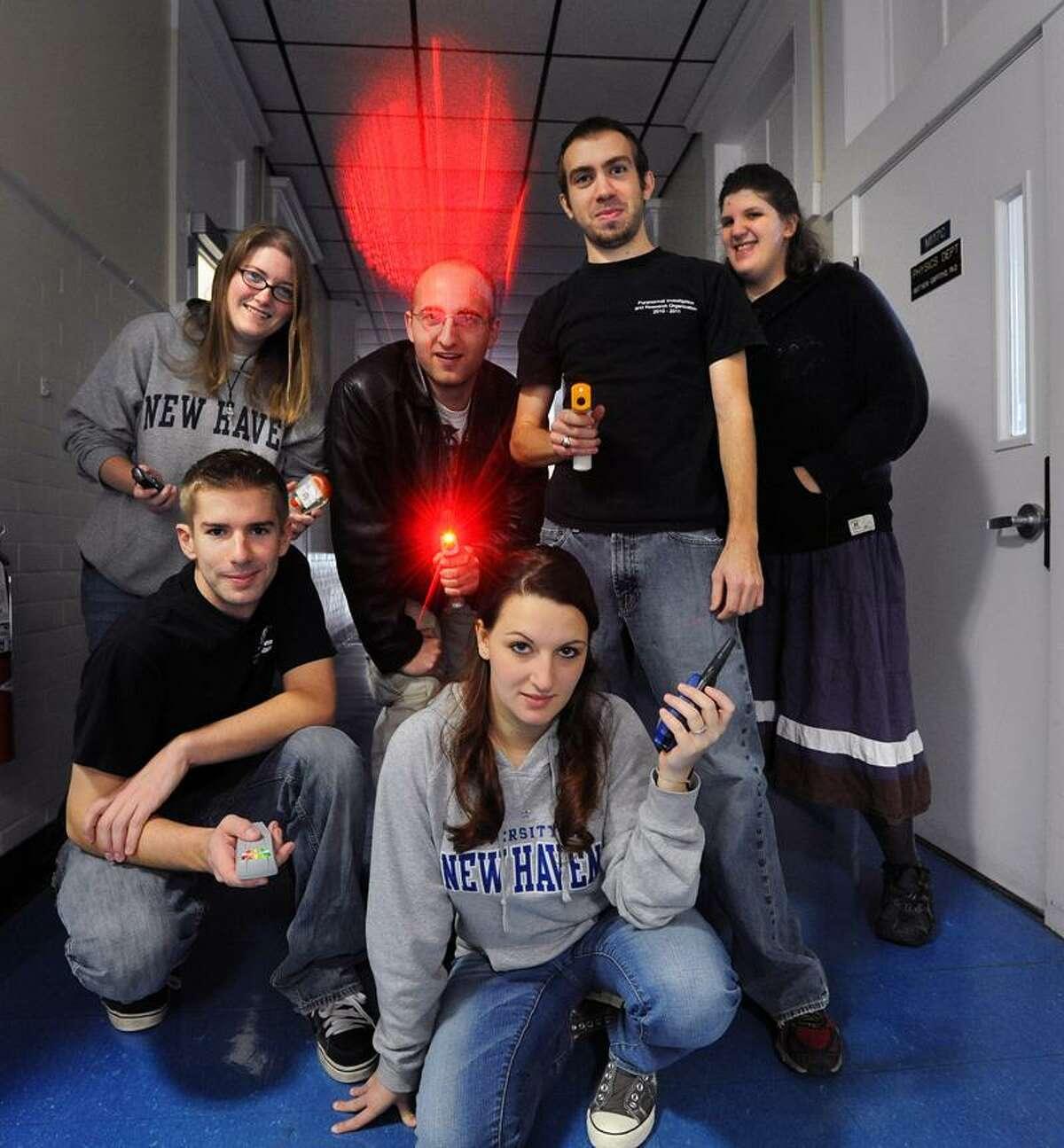 Members of PIRO at UNH (Ghost hunters). Peter Casolino/Register