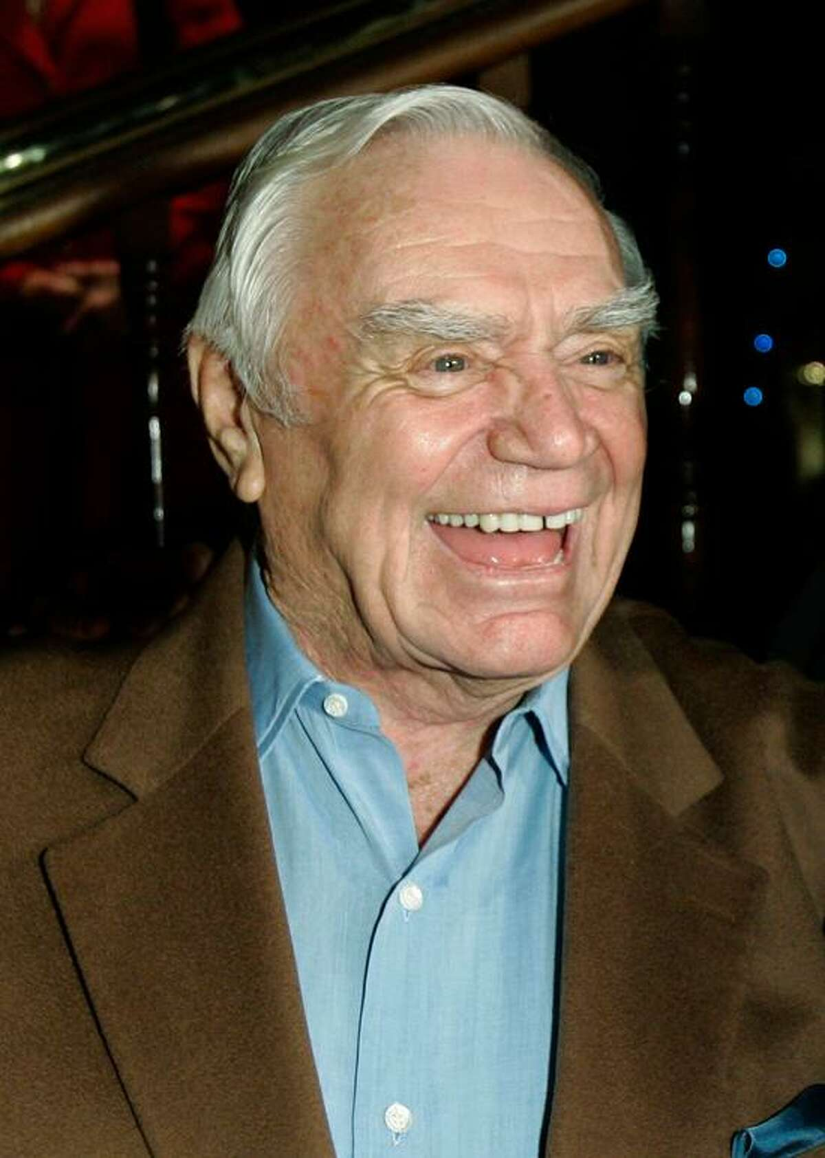 Actor Ernest Borgnine is shown at his 90th birthday party in Los Angeles, in this Jan. 24, 2007, file photo. (AP Photo/Kevork Djansezian, file)