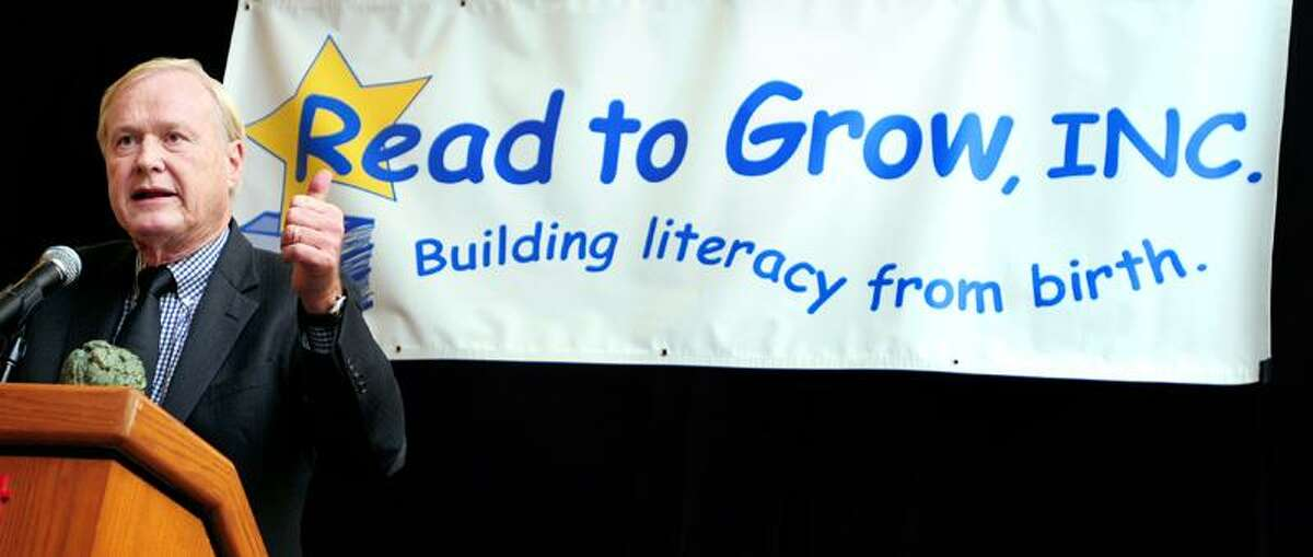 Broadcaster and author of Jack Kennedy: Elusive Hero, Chris Matthews, speaks at a Read to Grow luncheon in Hartford on 11/12/2012.Photo by Arnold Gold/New Haven Register AG0472A