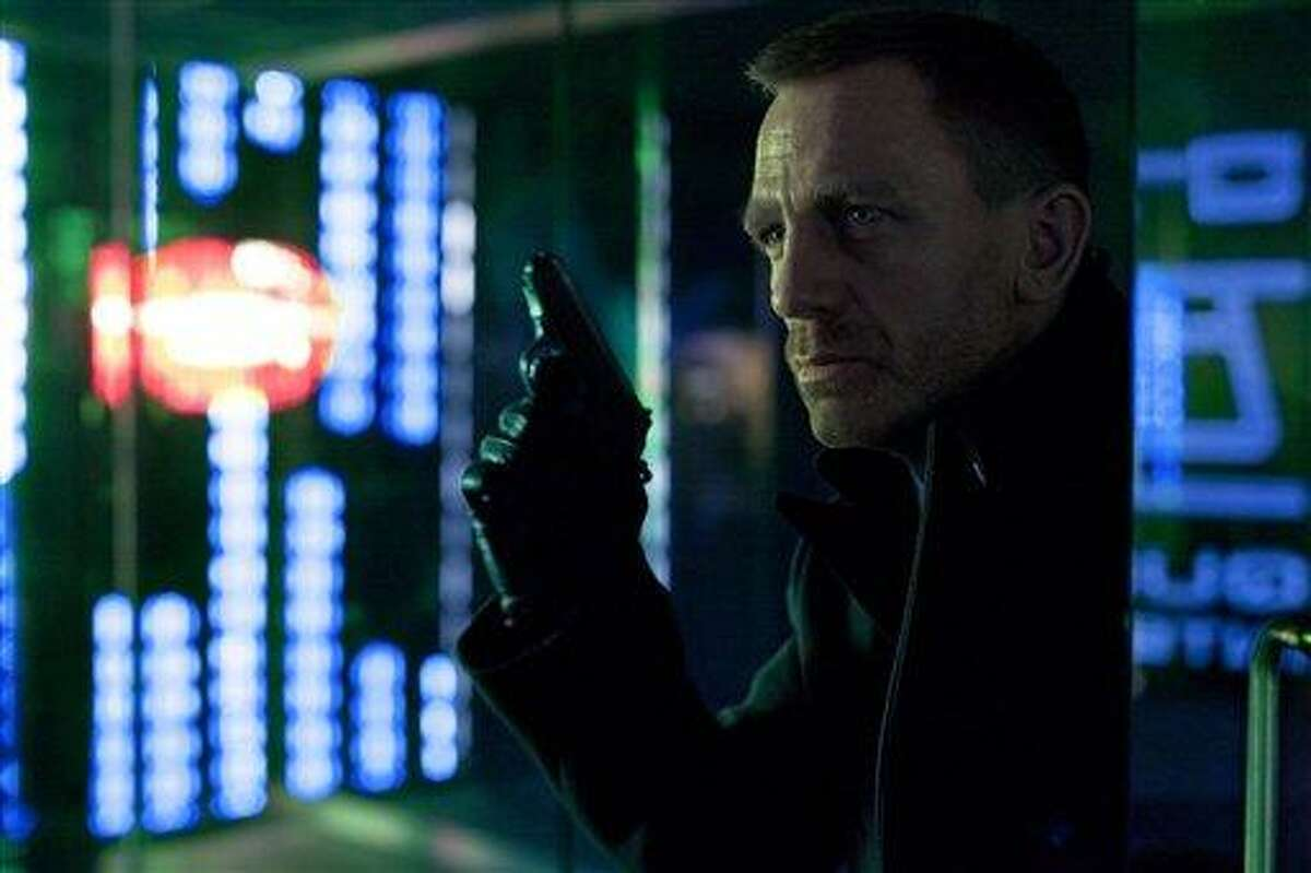This publicity film image released by Columbia Pictures shows Daniel Craig as James Bond in the action adventure film,