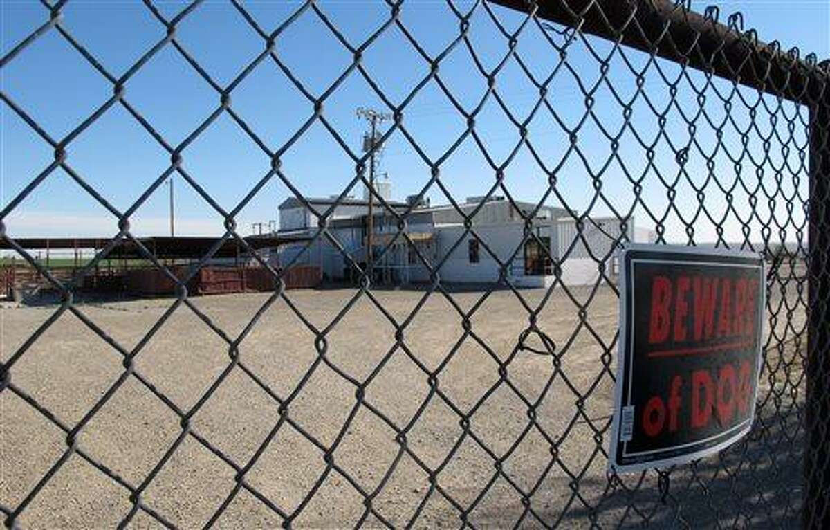 This April 15, 2013 file photo shows Valley Meat Co., which has been sitting idle for more than a year, waiting for the Department of Agriculture to approve its plans to slaughter horses. A southeastern New Mexico company's plans to convert a cattle plant into a horse slaughterhouse has hit another roadblock, this time over an environmental dispute that the company's attorney blames on the Obama administration putting politics over policy. (AP Photo/Jeri Clausing, File)