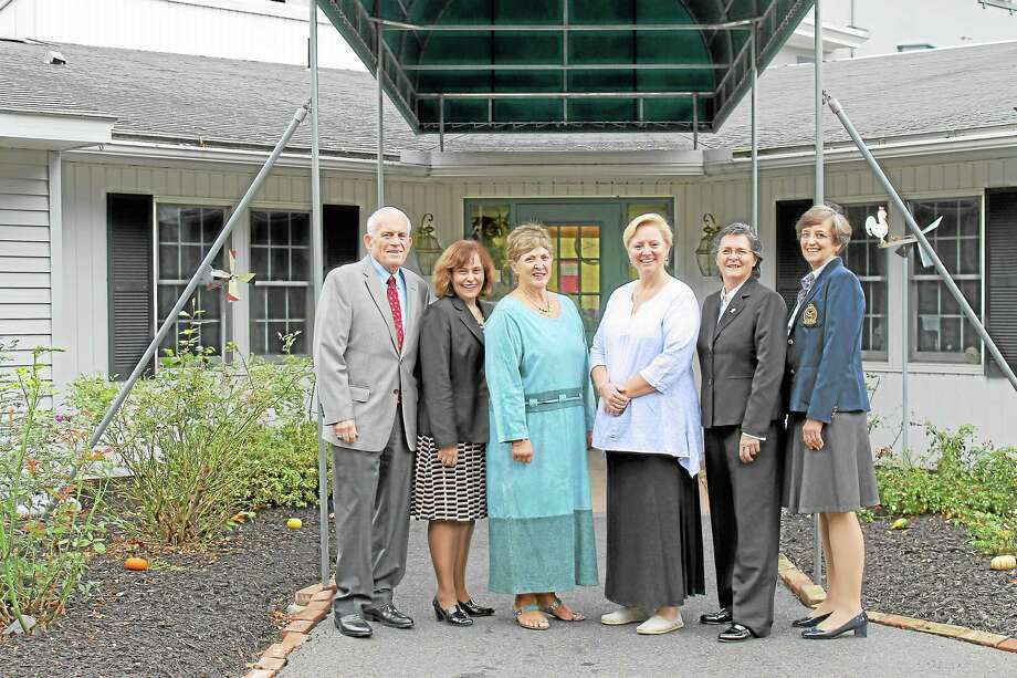 Left to Right: Chamber President Larry McHugh, Portland First Selectman Susan Bransfield, Lucille Swanson, Greystone Retirement & Adult Care Home, Luel Swanson, Greystone Retirement & Adult Care Home, Chamber Chairwoman Darlene Briggs, Portland Economic Development Coordinator Mary Dickerson.