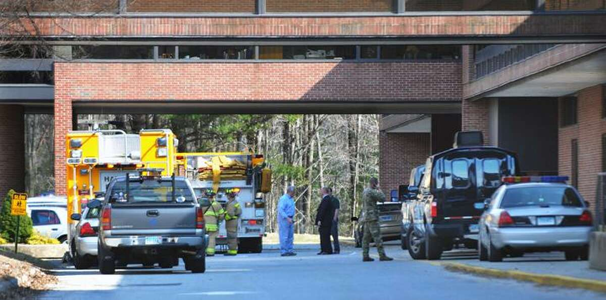 @CAvaloneMP 3.15.12 Emergency personnel respond to a bomb threat at Haddam-Killingworth High School in Higganum after finding the words bomb threat written on the bathroom wall. The building has been cleared by the Connecticut State Police.