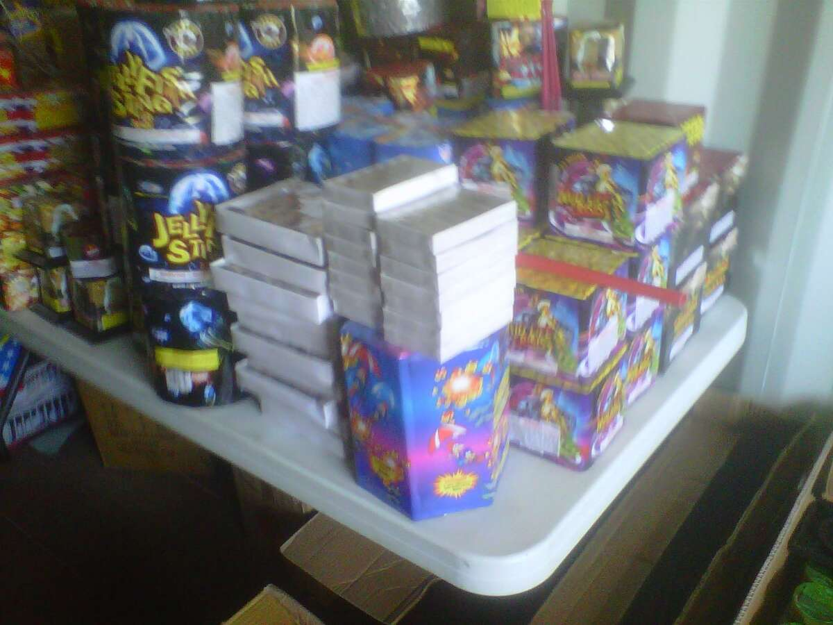 Stockpile of illegal materials. Photo courtesy of State Police