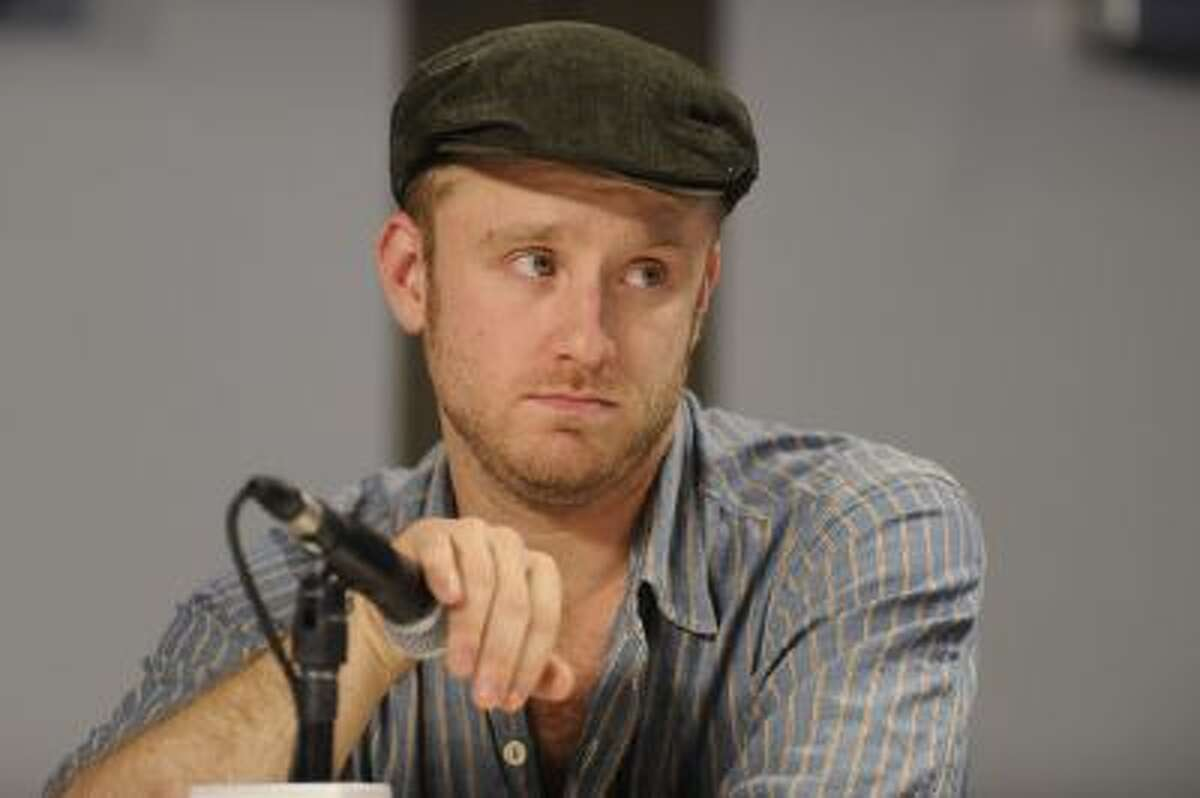 """Actor Ben Foster participates in a press conference for the film """"Rampart"""" during the Toronto International Film Festival on Sunday, Sept. 11, 2011 in Toronto."""