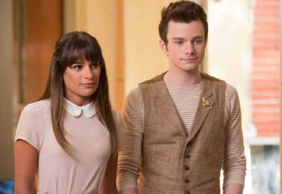"""Lea Michele and Chris Colfer in an episode of """"Glee,"""" which will end its run after the 2014 season."""