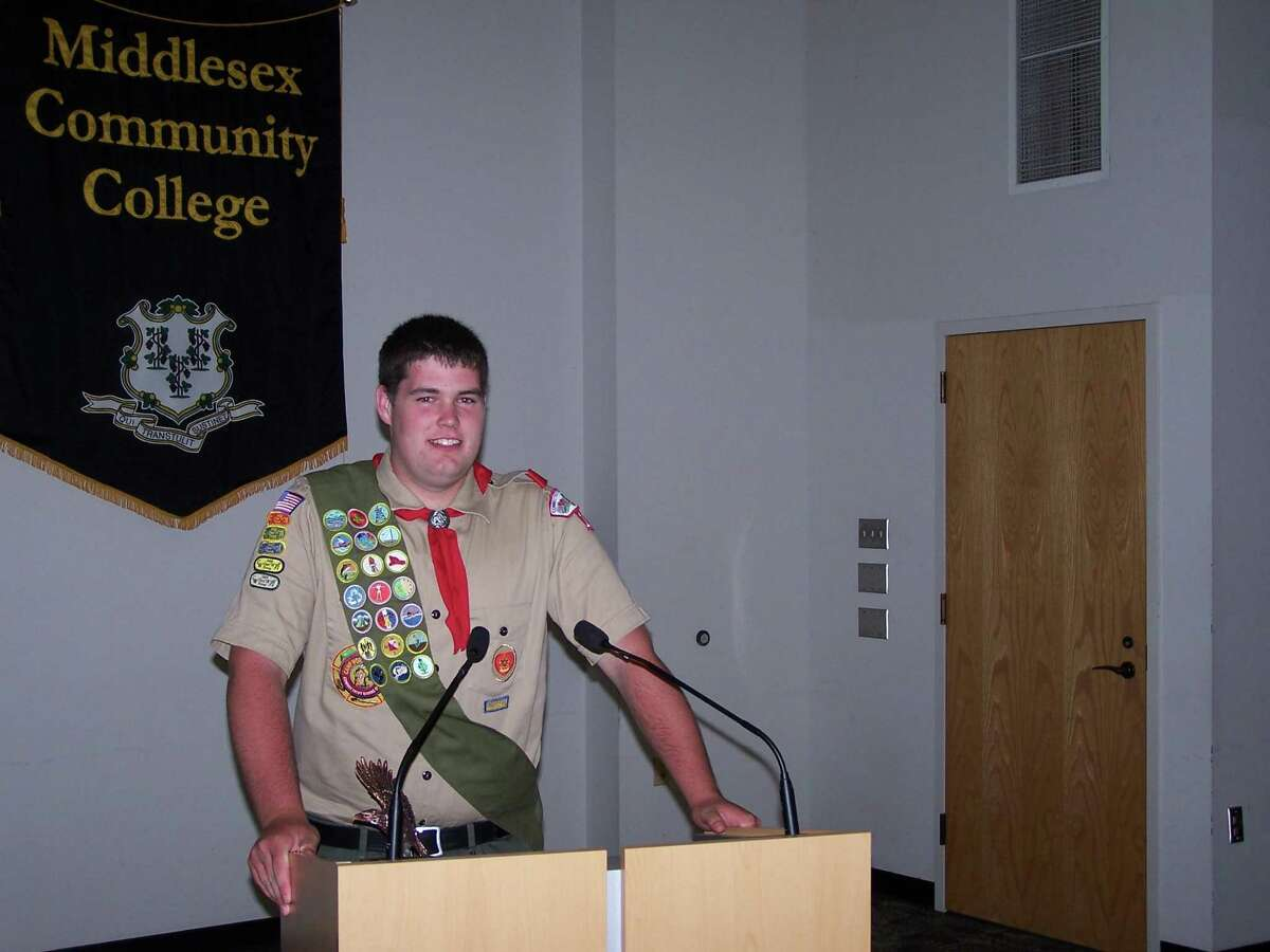 Ethan Drain,of Killingworth and recipient of the Good Scout Award.