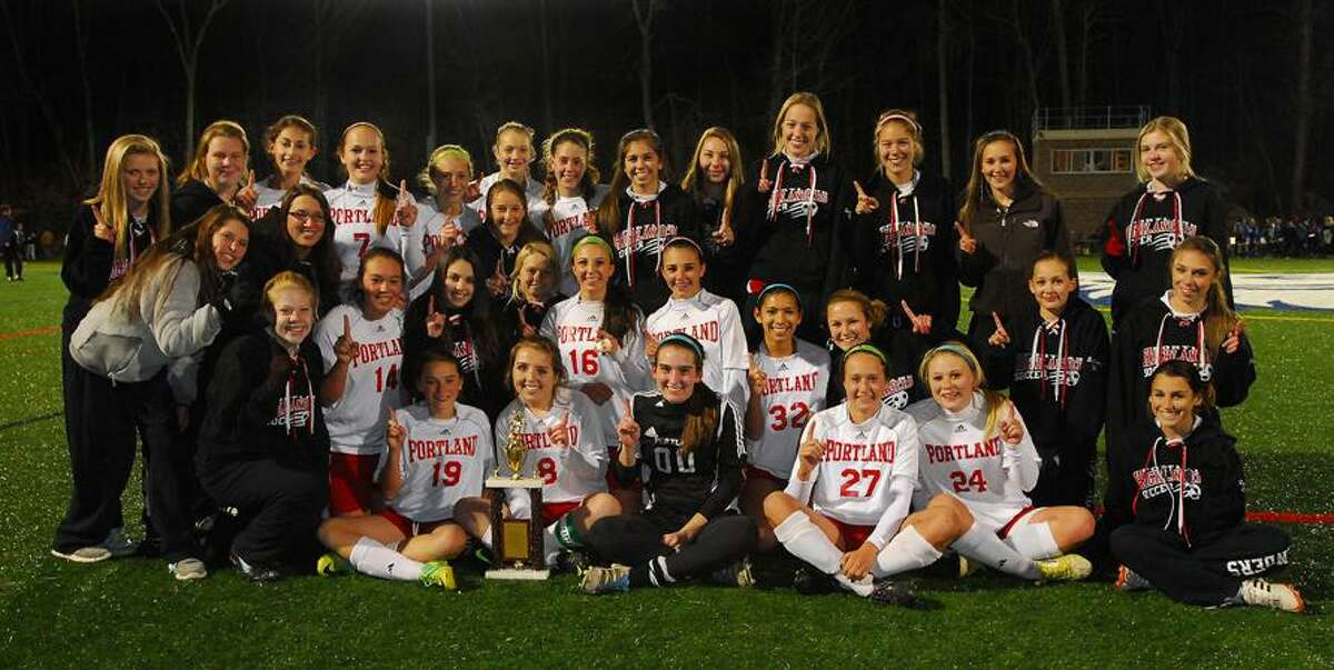 Catherine Avalone/The Middletown PressPortland defeated LOL 2-1 for the Shoreline Championship at Indian River Athletic Complex in Clinton Monday night.