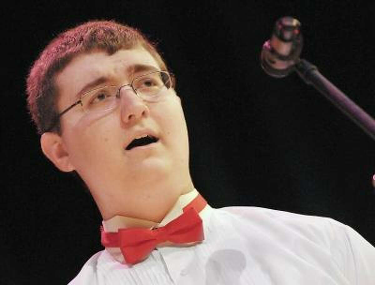 Catherine Avalone/The Middletown Press Junior Michael Machinchick performs