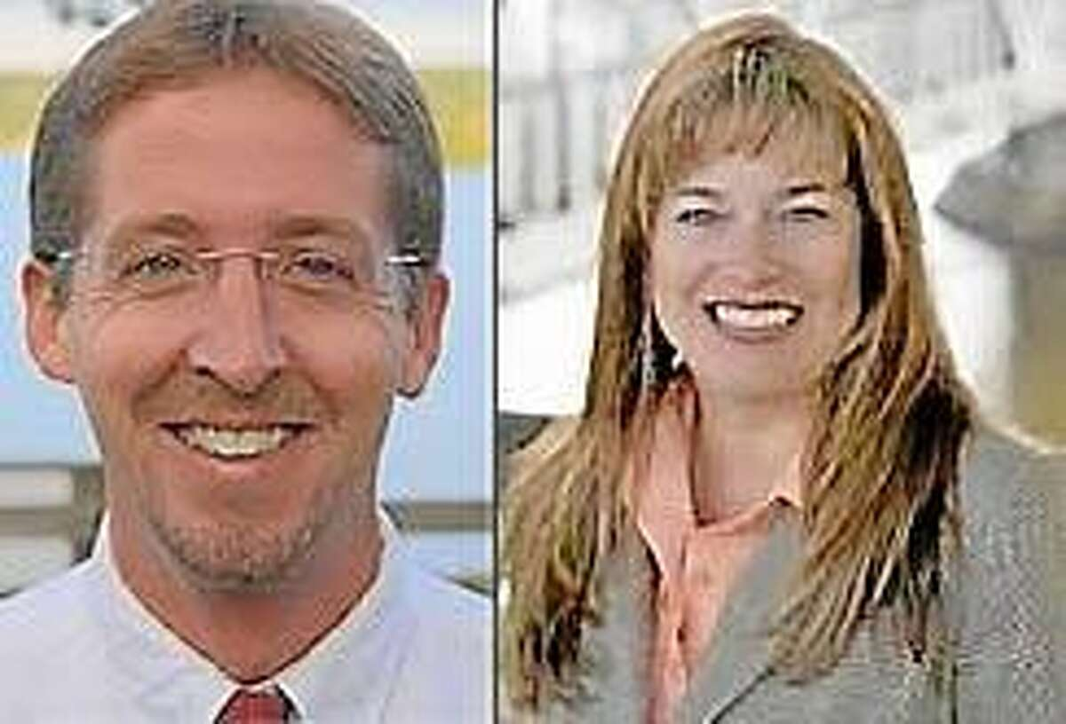 Chris Goff, left, and Melissa Ziobron, are running for state representative in the 34th District.