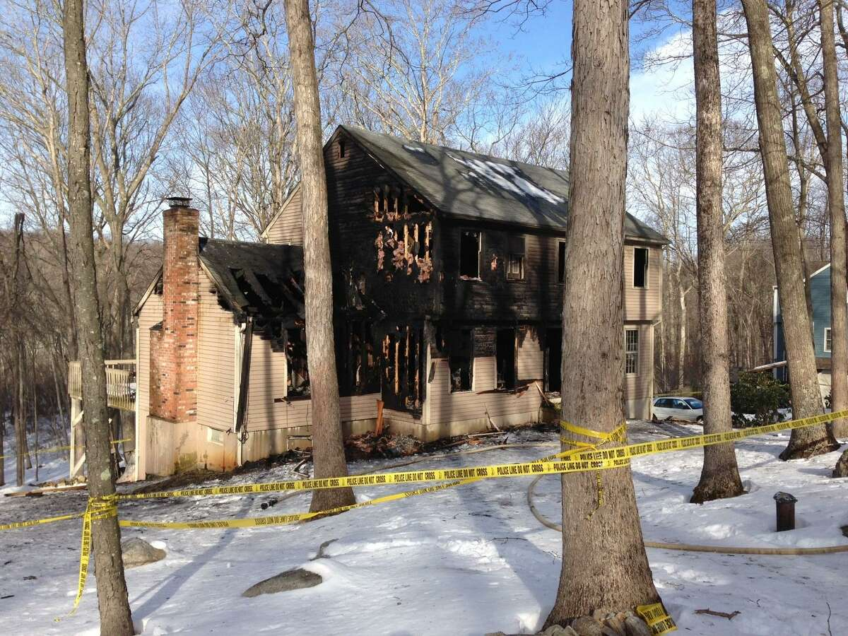 House at 19 Beaver Dam Trail in Old Saybrook,where the arson fire took place.