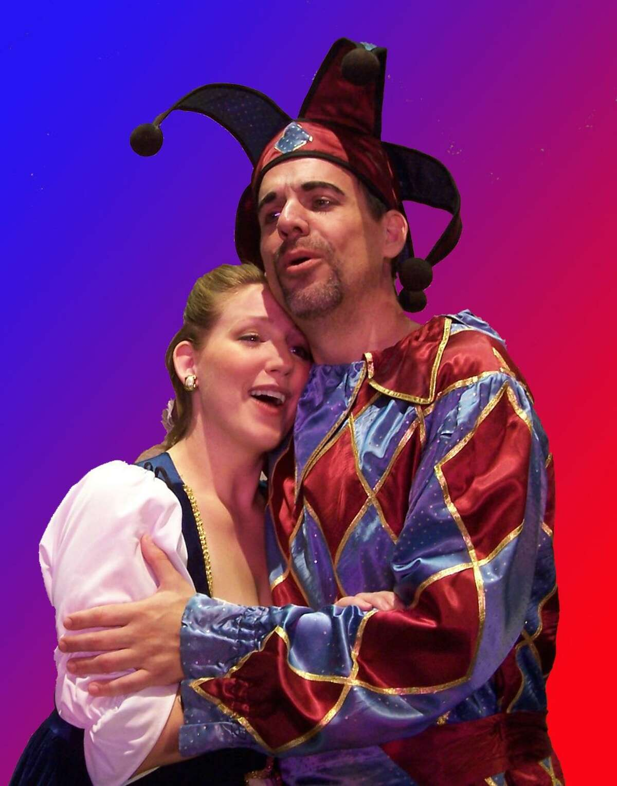 Submitted photo - Opera Theater of Connecticut Amanda Hall (Gilda) and Galen Scott Bower (Rigoletto) in Opera Theater of Connecticut's Rigoletto.
