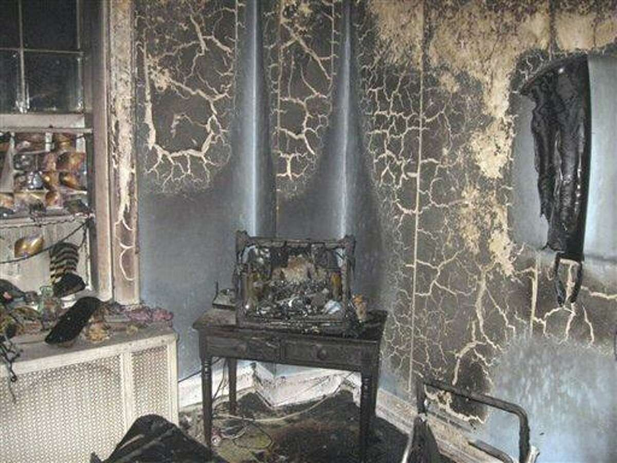 This photo provided by the Ashtabula Division of Fire shows a room at Park Haven Nursing Home where a Sunday night fire caused by a meth lab in the room killed one person and injured six others in Ashtabula, Ohio. Associated Press