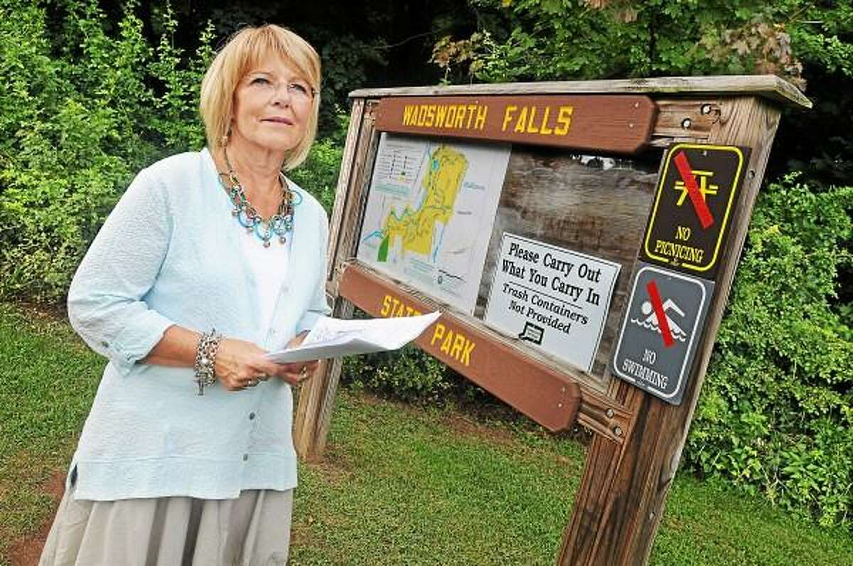 Rockfall resident Carol Schweitzer-Schilling started a petition on July 30 and in one day gathered 38 signatures from Middlefield and Rockfall residents requesting the immediate closure of the Wadsworth Falls State Park in Rockfall section of Middlefield. The petition was addressed to Middlefield First Selectman Jon Brayshaw and Michael Esty, Commissioner of DEEP. Schweitzer-Schilling's concern is the vandalism and public's safety. No swimming and picnicing signs were installed Wednesday and picnic tables have been removed. Catherine Avalone - The Middletown Press