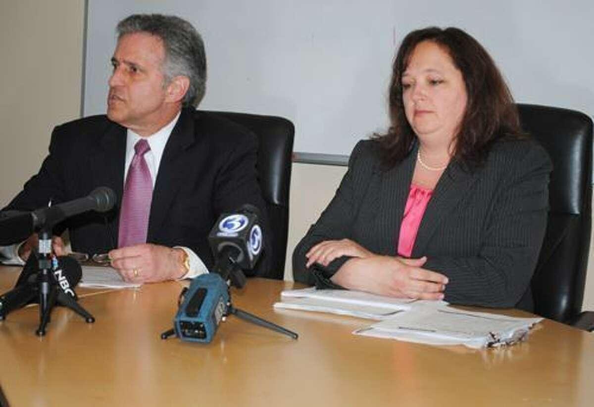 Middletown Mayor Sebastian Giuliano and City Treasurer Christine Bourne