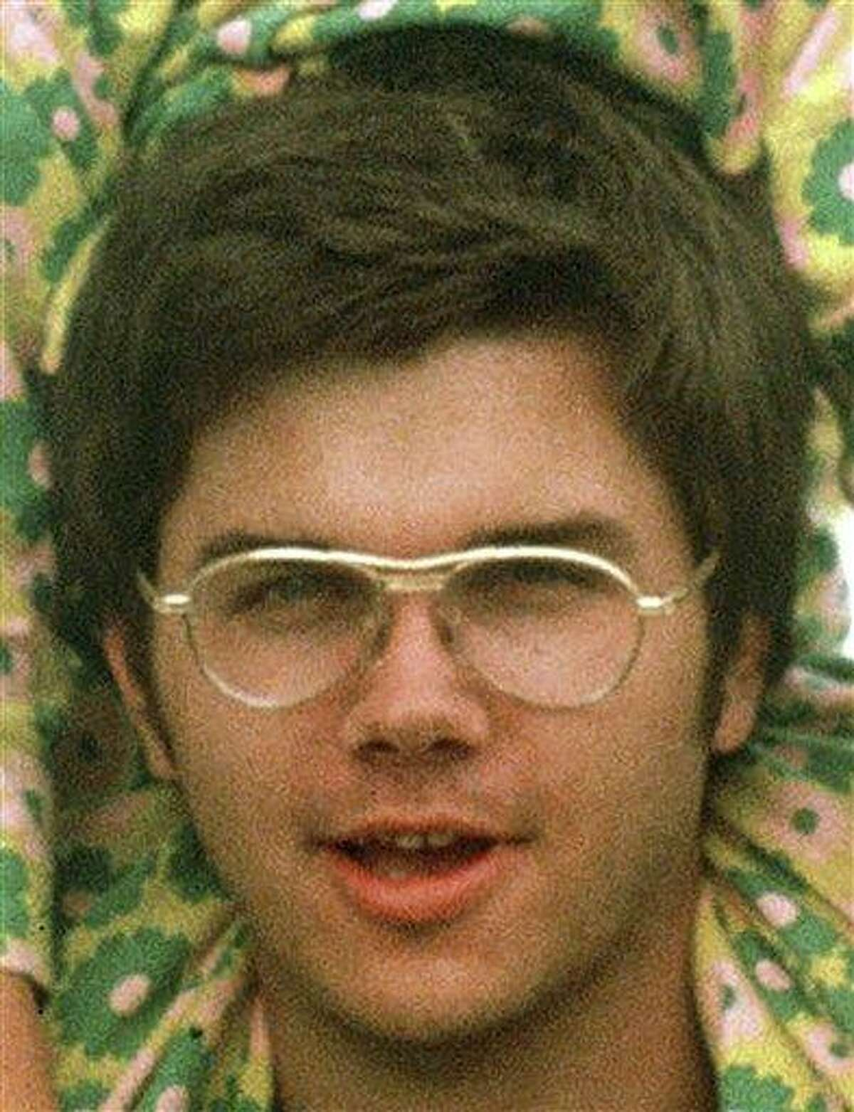 In this 1975 file photo, Mark David Chapman is seen at Fort Chaffee near Fort Smith, Ark. Associated Press