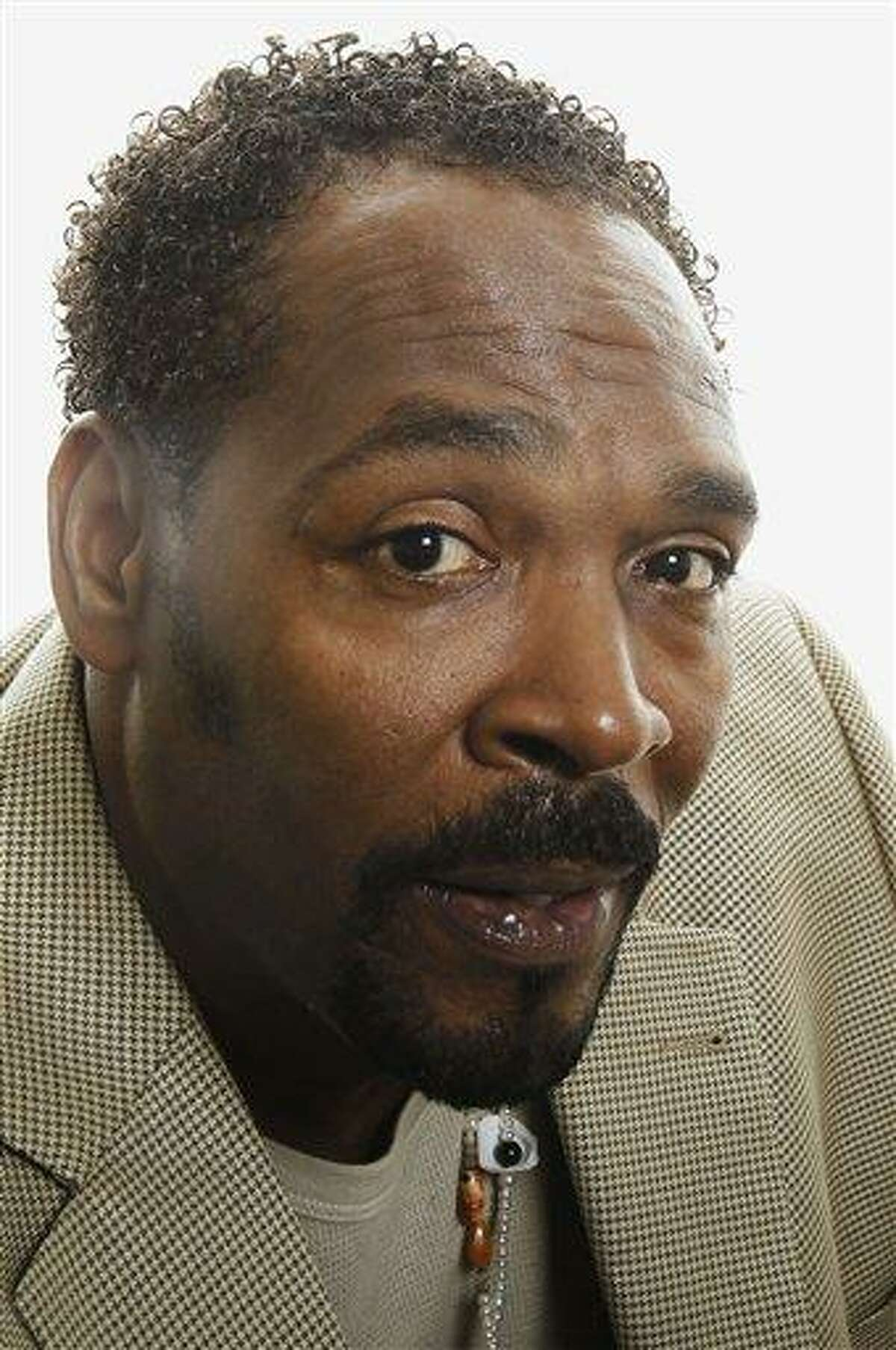 Rodney King poses for a portrait April 13 in Los Angeles. Southern California police say King's death has been ruled an accidental drowning. The county medical examiner's report shows King had numerous drugs such as PCP, cocaine and marijuana in his system when he died in June. Associated Press