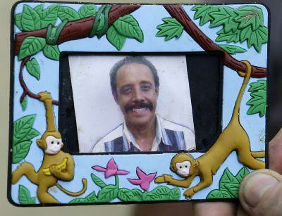 This photo shows an undated family photo provided by Zulima Niebles of Patricio Simono, a victim of a fatal shooting at an apartment building in Hialeah, Fla., Saturday, July 27, 2013.
