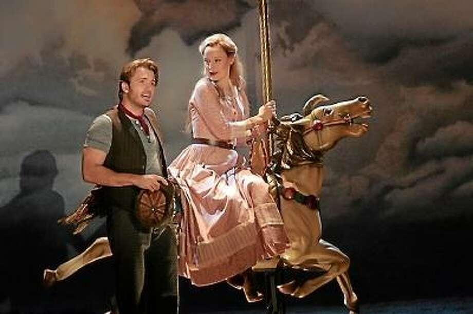"""James Snyder and Erin Davie in Goodspeed's """"Carousel."""" Photo by Diane Sobolewski"""