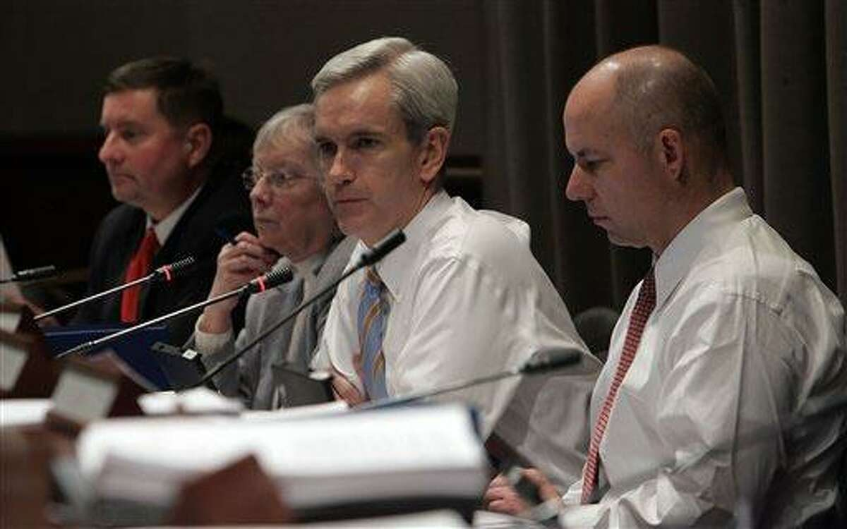 Connecticut state Sen. Andrew McDonald, D-Stamford, third from left, at a Judiciary Committee in 2007. Associated Press file photo