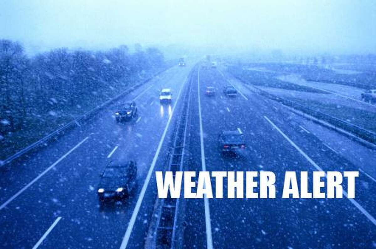 A wintry mix and strong winds expected this afternoon could make for messy driving conditions for travelers.