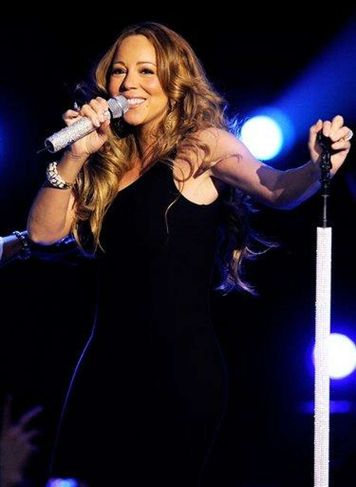 """Singer Mariah Carey performs at Caesars Entertainment """"Escape to Total Rewards"""" kick-off at Gotham Hall on Thursday in New York. Associated Press"""