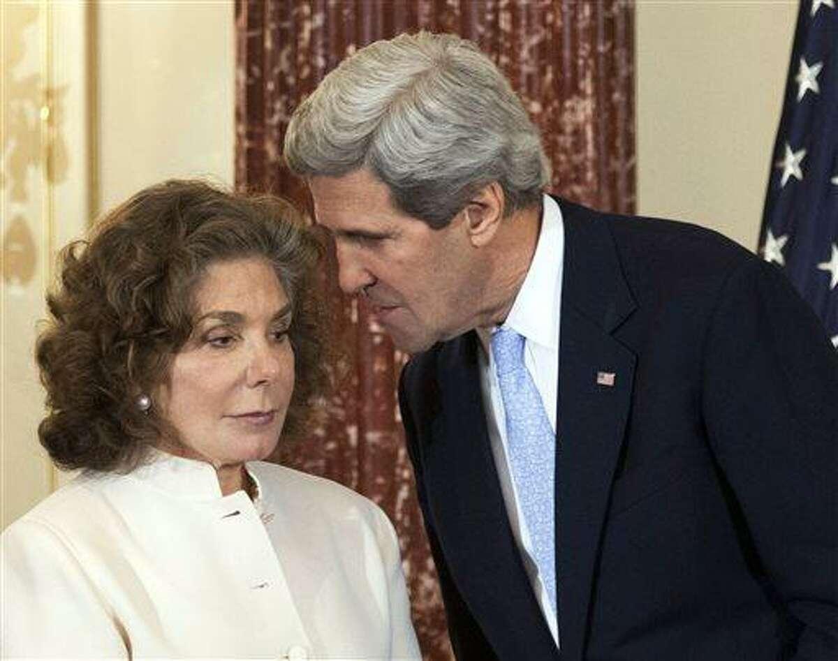 Secretary of State John Kerry and his wife Teresa Heinz Kerry. Associated Press file photo