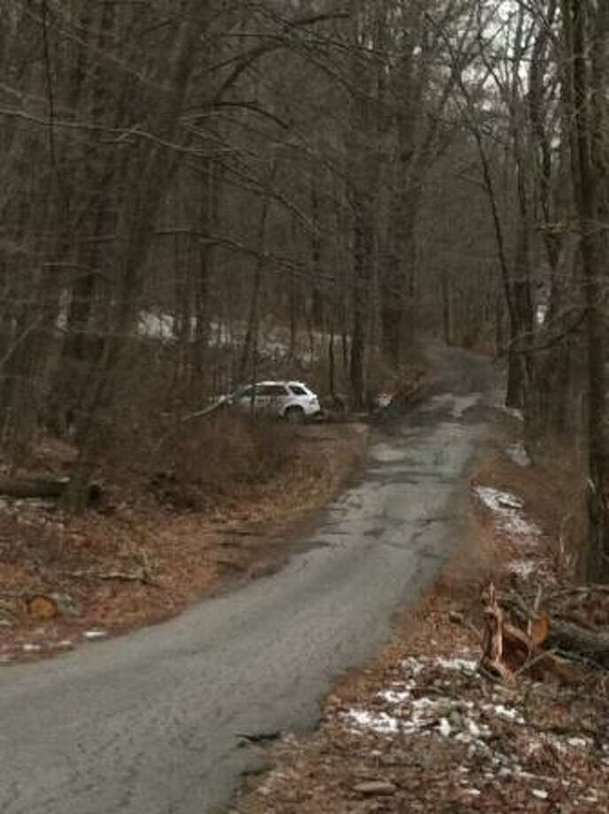 River Road, along the Housatonic River in Kent, where the car of a missing woman from Cromwell was found Monday.