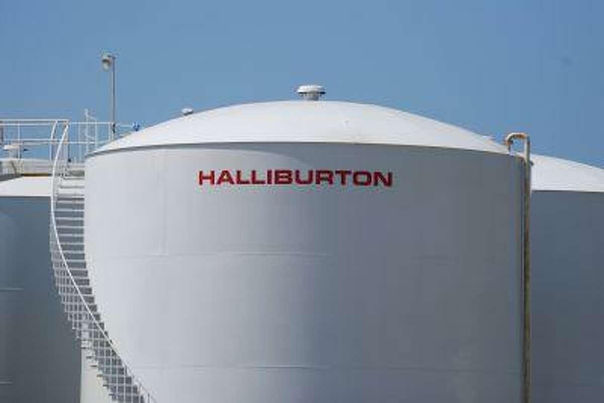 A Halliburton facility in Port Fourchon, Louisiana is seen on April 8, 2011.