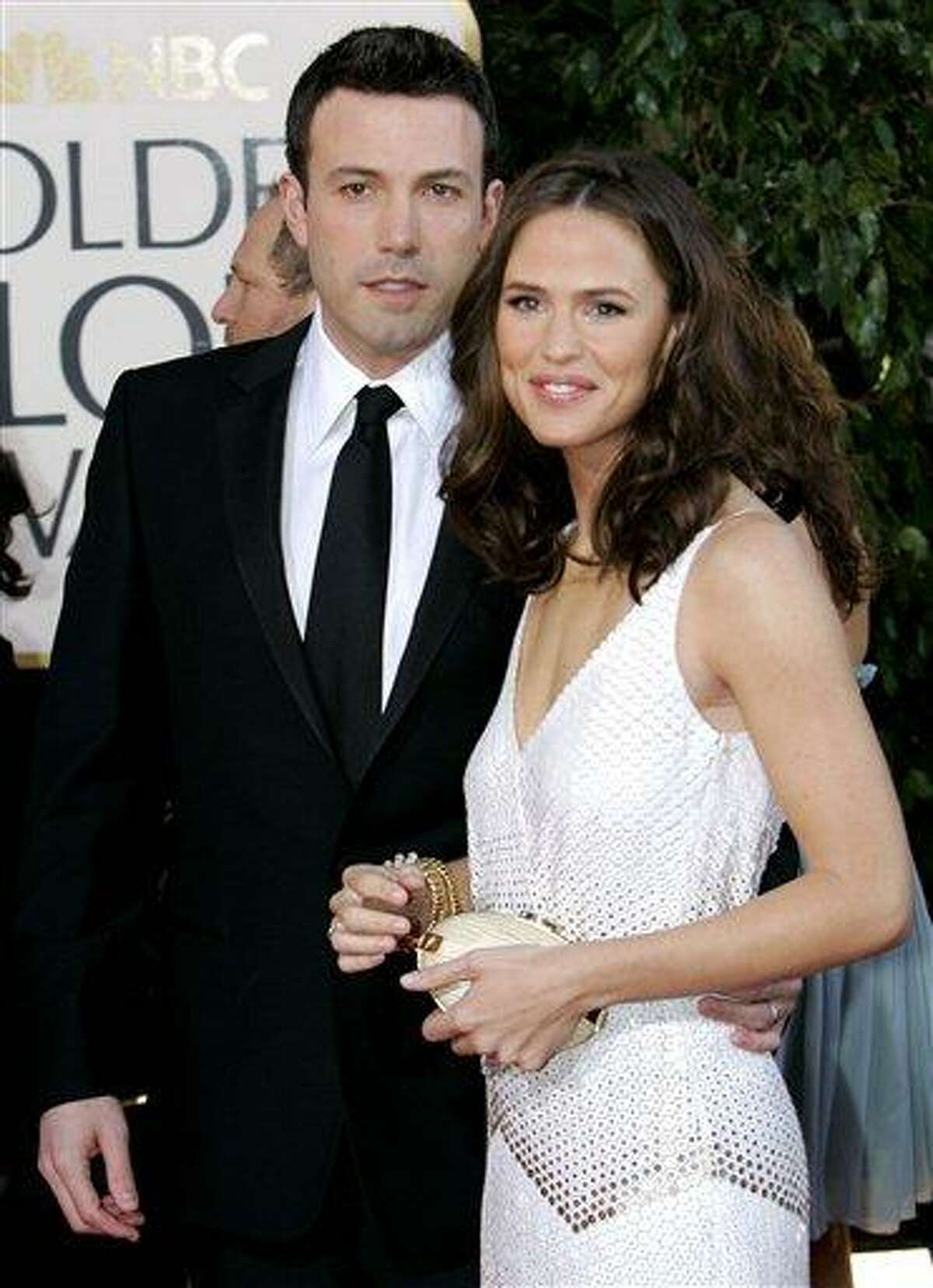 In this January 2007 file photo, Ben Affleck, left, and Jennifer Garner arrive for the 64th Annual Golden Globe Awards in Beverly Hills, Calif. Affleck has confirmed the Feb. 27 birth of his son Samuel Garner Affleck with wife actress Jennifer Garner on his official Facebook page. This is the couple's third child. Associated Pres