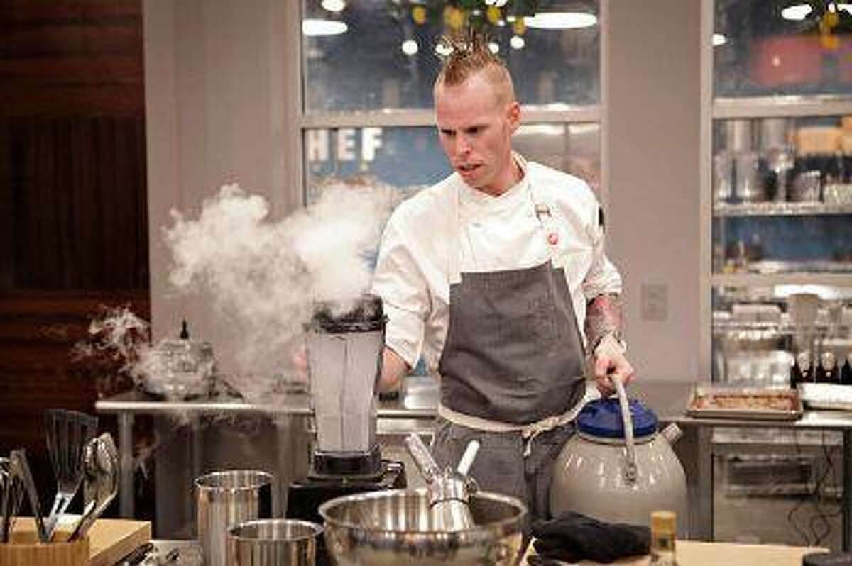 Graeme Ritchie participates in the 'Battle of the Sous Chefs.'
