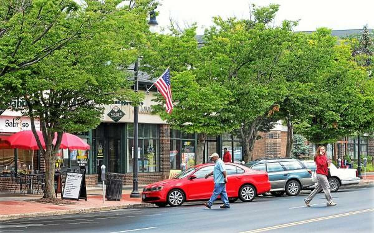 Tree lined Main Street, Middletown. Catherine Avalone -The Middletown Press