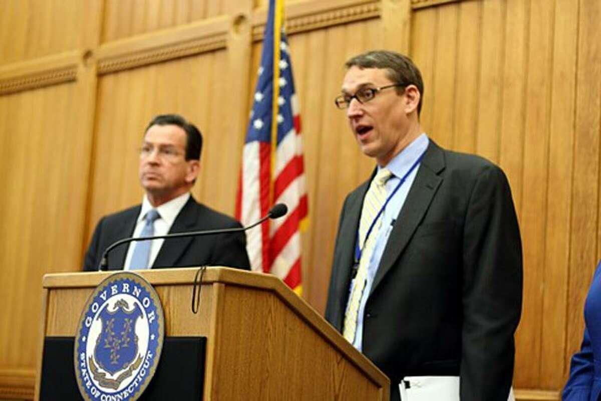 OPM Secretary Ben Barnes and Gov. Dannel P. Malloy. Christine Stuart file photo