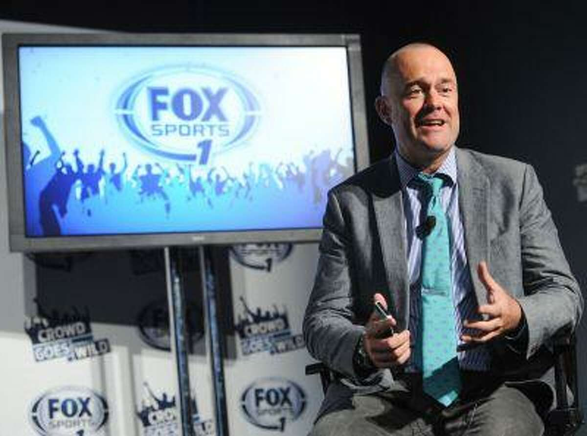 """Producer Michael Davies participates in a FOX Sports 1 press event to launch the new show """"Crowd Goes W!ld"""" on Monday, July 15, 2013 in New York."""