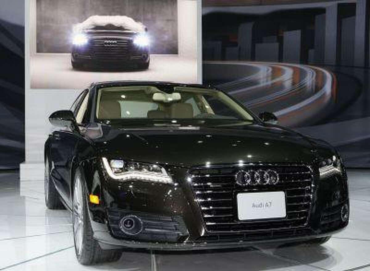 The 2011 Audi A7 Sport Back is seen at the LA Auto Show Thursday, Nov. 18, 2010. (AP Photo/Reed Saxon)