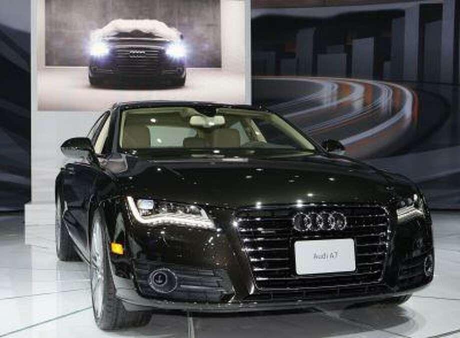 The 2011 Audi A7 Sport Back is seen at the LA Auto Show Thursday, Nov. 18, 2010. (AP Photo/Reed Saxon) Photo: ASSOCIATED PRESS / AP2010