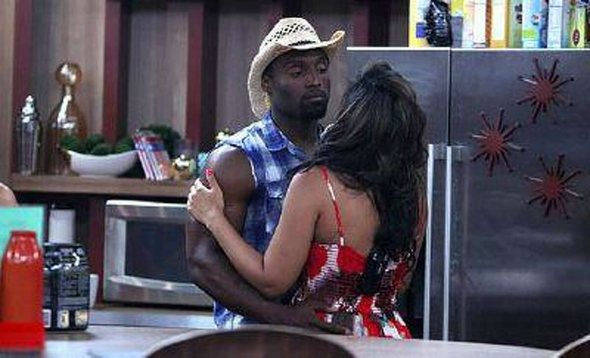 HouseGuests Howard Overby and Candice Stewart are the only black cast members on this season of Big Brother, which features 16 contestants. (Photo by Sonja Flemming/CBS)