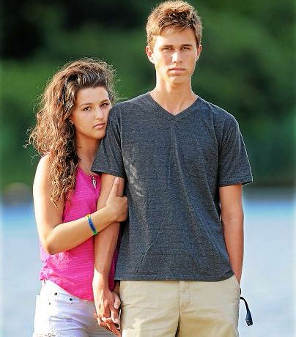 Middletown resident Tyler Renfro, 17, who has been dating Kendel Souza, 18, for only three months, saved Souza from drowning at Misquamicut State Beach in Westerly, Rhode Island. Renfro and Souza are graduates of Middletown High School's class of 2013. Catherine Avalone - The Middletown Press