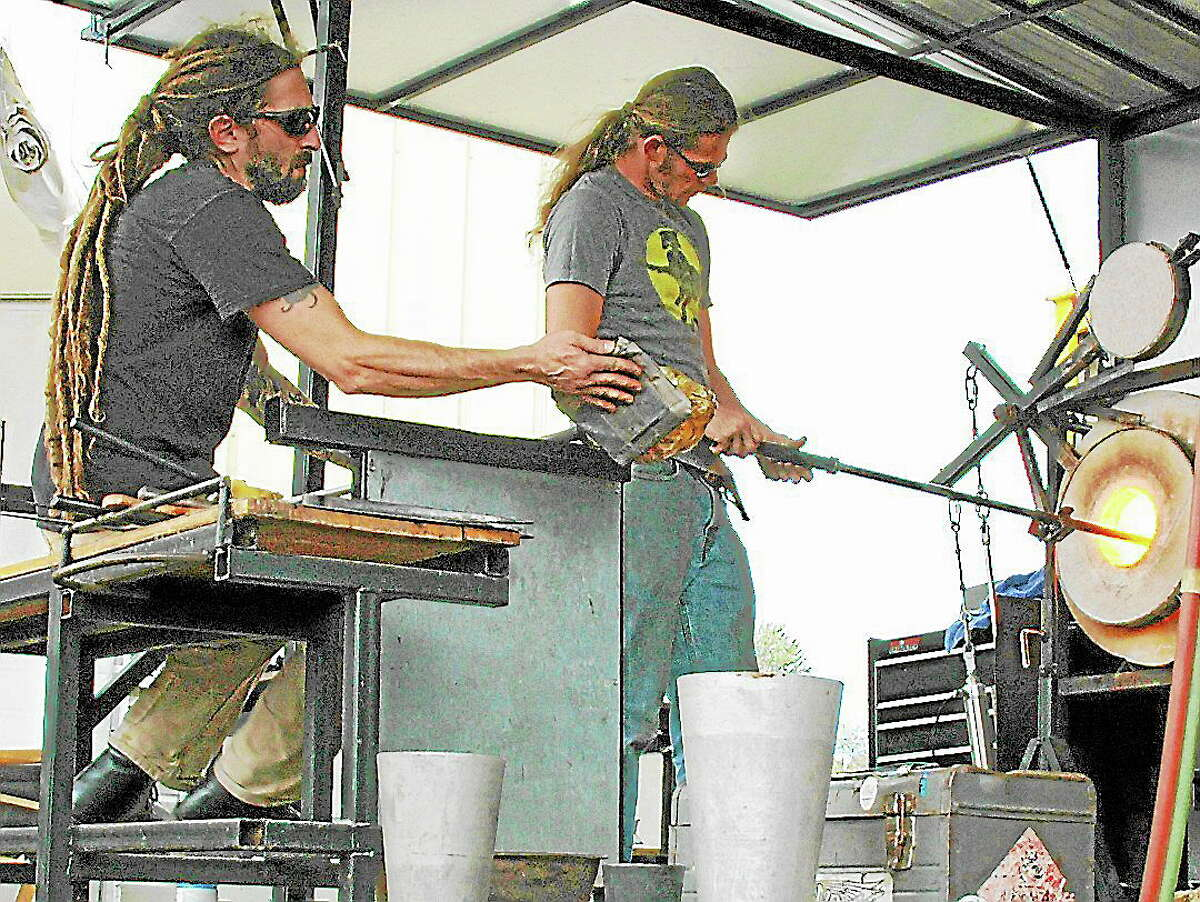 Submitted photo courtesy of the artistGlassblowing demonstrations are part of the weekend's events at the Paradise City Arts Festival in Northampton, Mass.