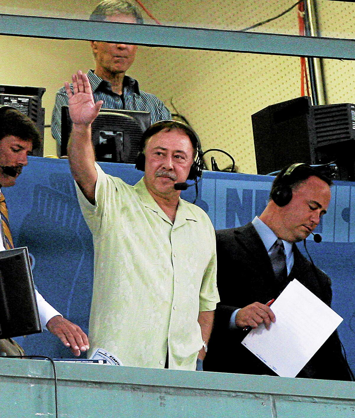 The son of Boston Red Sox announcer Jerry Remy, here waving to the crowd at Fenway Park during a 2009 game, has pleaded not guilty to murder.