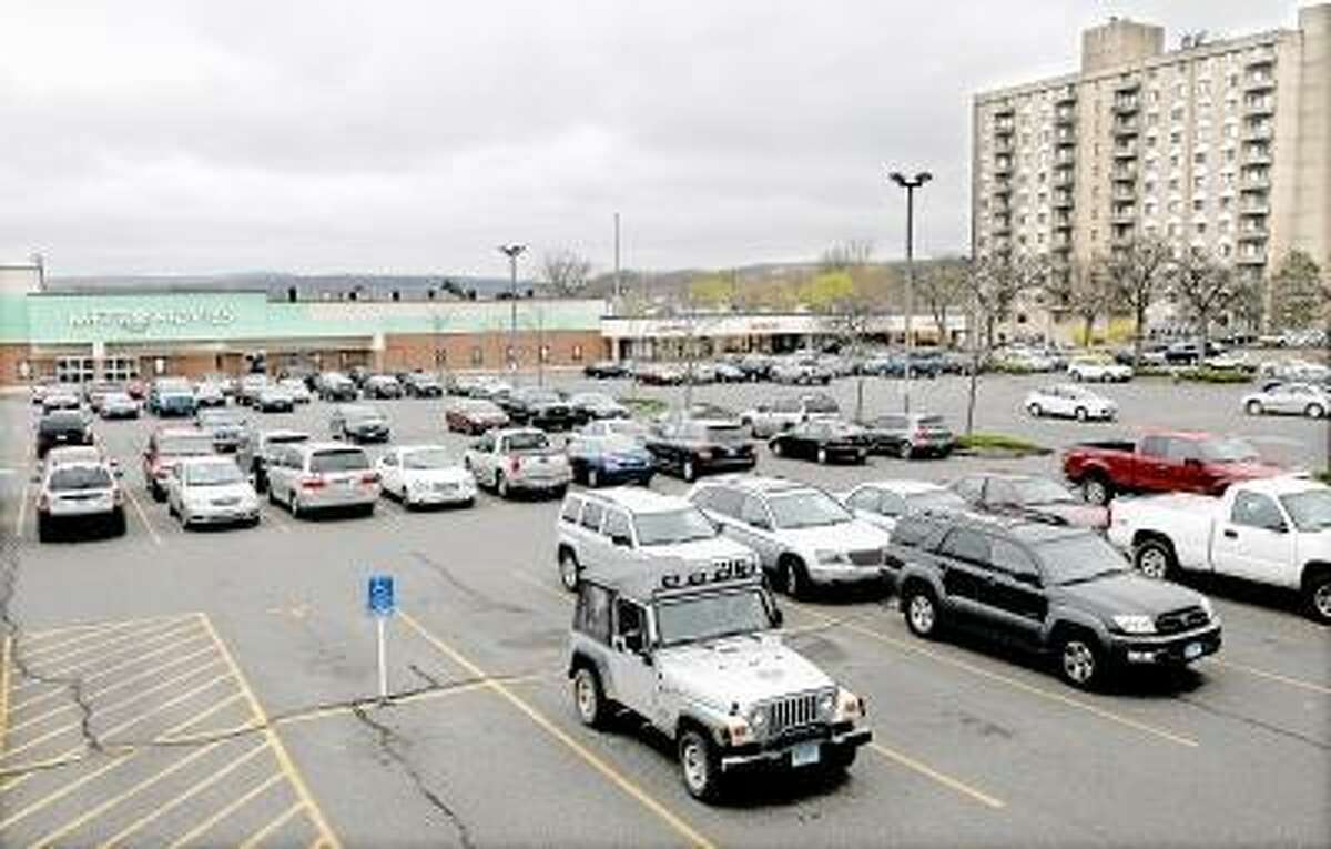 Catherine Avalone/The Middletown Press Metro Square parking lot in Middletown