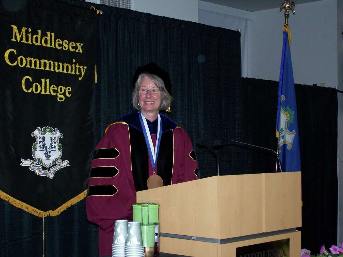 Anna Wasescha, president of Middlesex Community College, at her inauguration