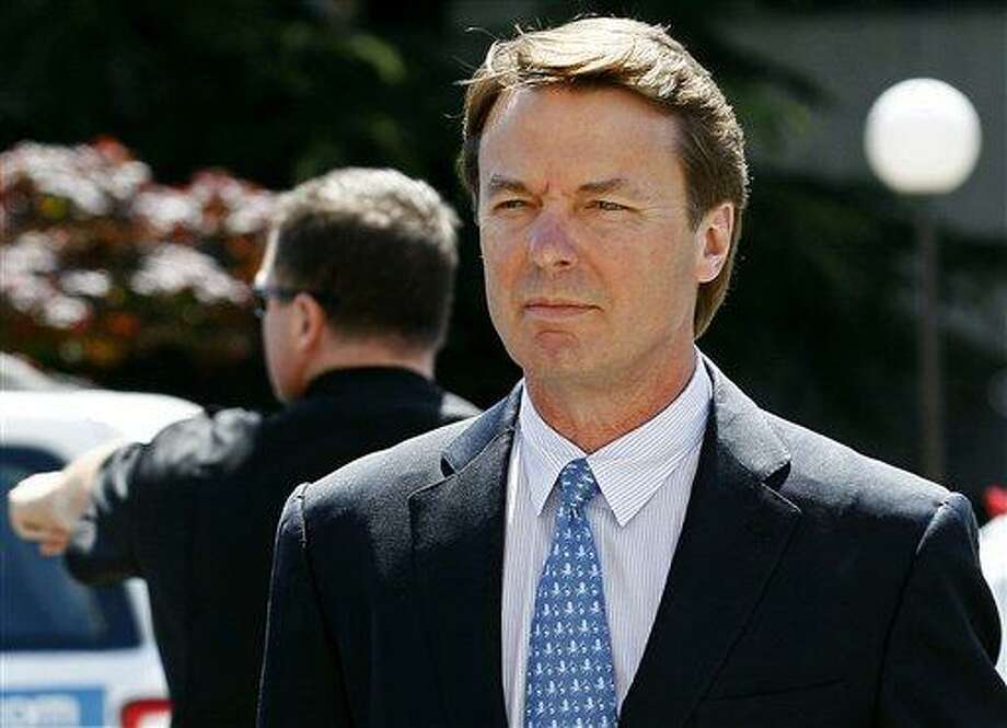 In this file photo from earlier this month, former presidential candidate and U.S. Sen. John Edwards arrives outside federal court following a lunch break in Greensboro, N.C., during jury selection in his criminal trial on alleged campaign finance violations.  Associated Press Photo: AP / AP2012