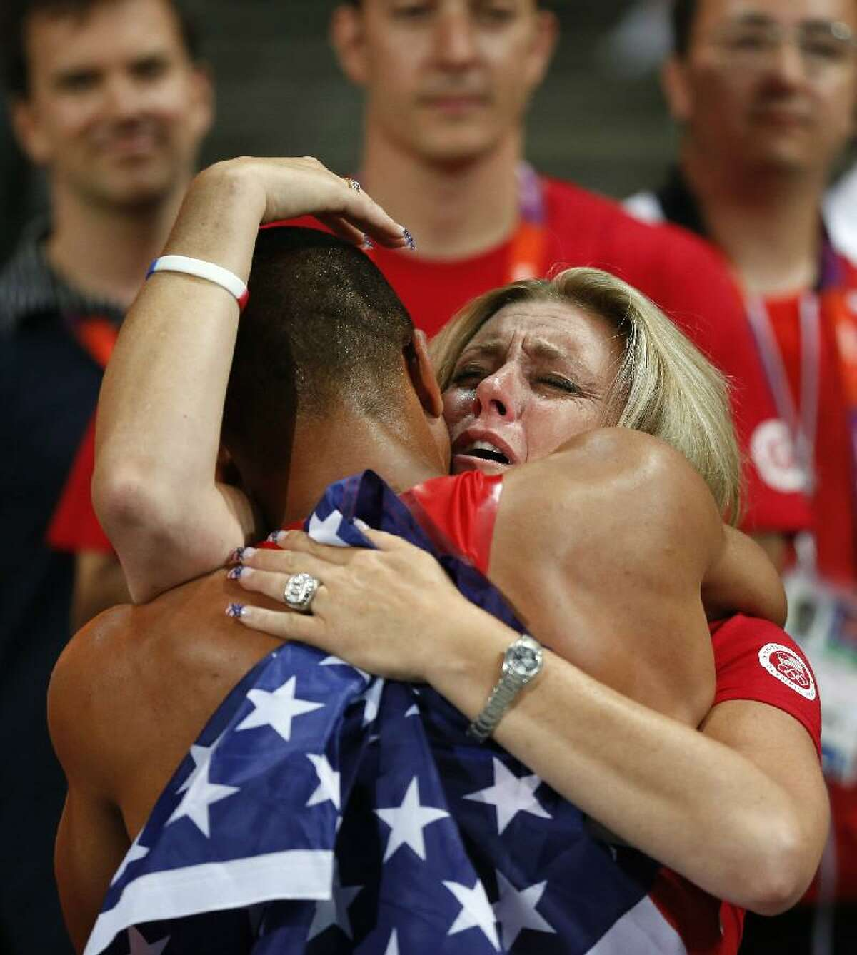 ASSOCIATED PRESS United States' Ashton Eaton is embraced by his mother Roslyn Eaton after winning gold in the decathlon during the athletics in the Olympic Stadium at the 2012 Summer Olympics Thursday in London.
