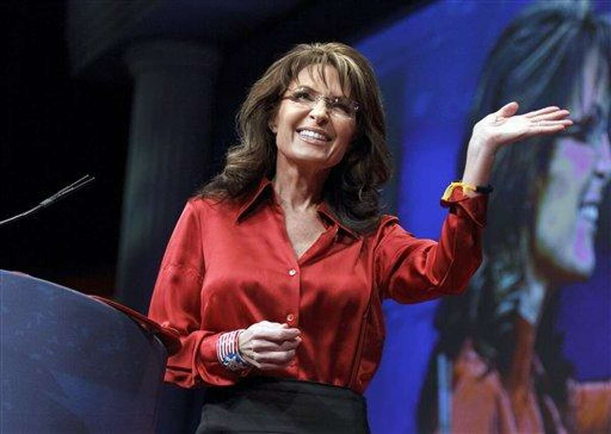 In this February ile photo, former Alaska Gov. and GOP vice presidential candidate Sarah Palin delivers the keynote address to activists from America's political right at the Conservative Political Action Conference (CPAC) in Washington. Associated Press