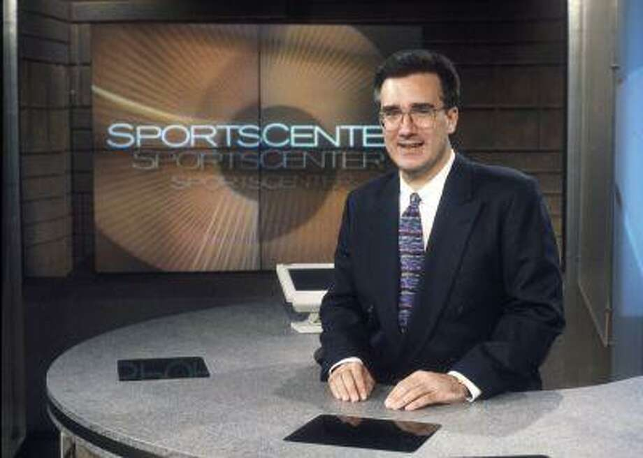 """In this photo taken Jan. 13, 1996, and provided by ESPN Images, ESPN on air personality Keith Olbermann poses for a photo on the """"SportsCenter"""" studio set in Bristol, Conn. Photo: ASSOCIATED PRESS / ESPN INC.1996"""