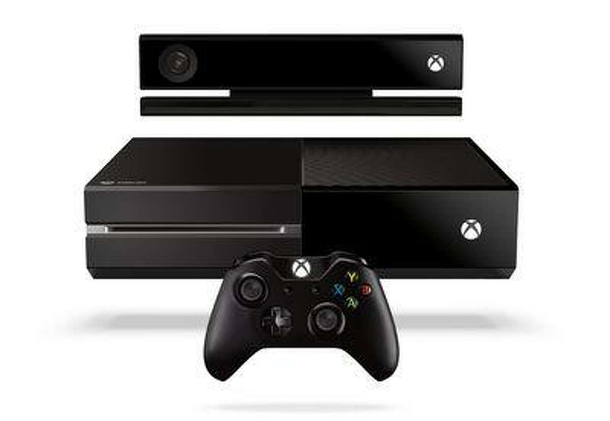 Microsoft's new Xbox One entertainment console, with Kinect motion-detecting unit (at top). (AP Photo/Microsoft)