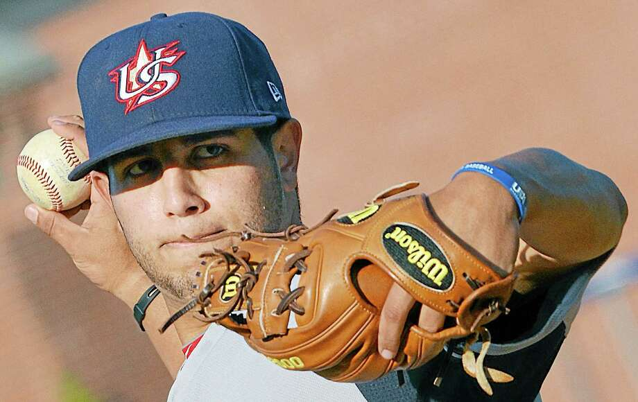 Marvin Gorgas, infielder and right-handed pitcher for Team USA that won this year's World Cup, pitched 6 1/3 scoreless innings throughout three games of the nine-game series. Photo: Brittany Hill — Middletown Press Intern
