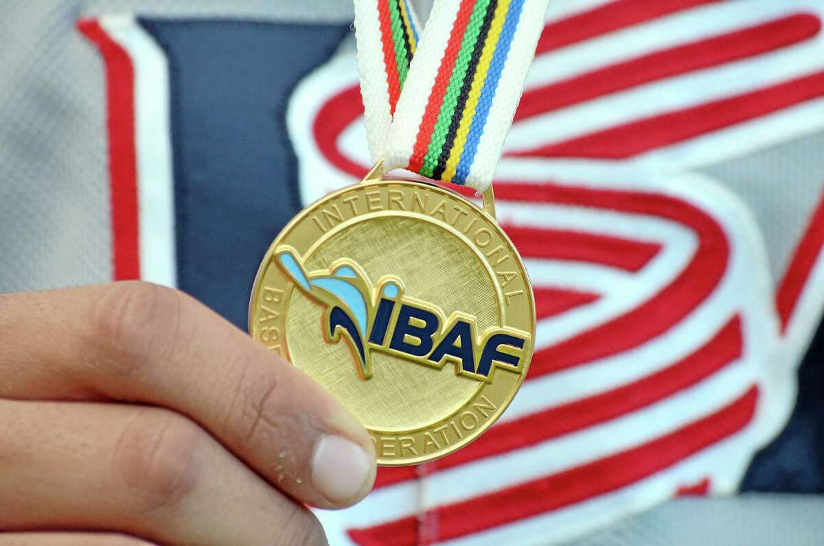 The International Baseball Federation gold medal that Gorgas and the team earned at this year's 18-and-under World Cup in Taichung, Taiwan.