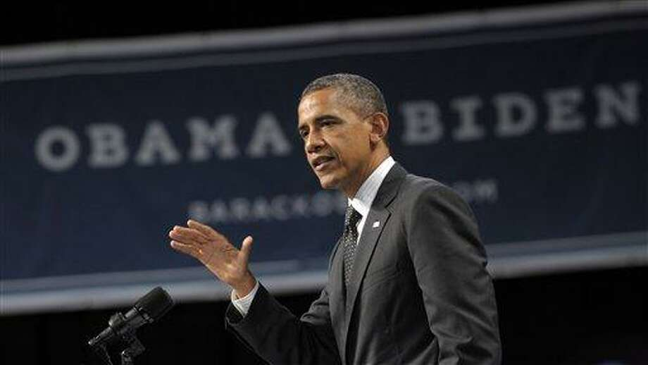 President Barack Obama speaks at a fundraising event at the Oregon Convention Center July 24 in Portland, Ore. Associated Press Photo: AP / AP